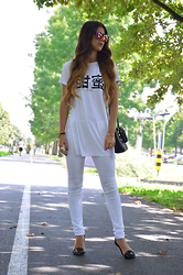 Tamy's Fashion World - Bershka Sunglasses, H&M T Shirt, Aldo Bag, Bershka Pants, Stradivarius Shoes - Something new
