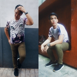Gregern Paul Esteban - Tee Culture Leopard Print Graphic, Bench Brown Chino, Native Shoes Black Apollo Moc - Wildest Dreams
