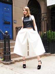 Julia - Walter Baker Leatherette Crop Top, Blaque Label Culottes, Aldo Shoes - Stay chic with If Chic