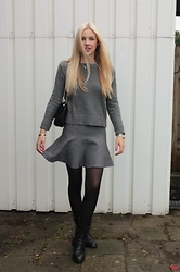 Veerle Scheutjens - Mango Sweater, Zara Skirt, Supertrash Boots, Dkny Bag - 50 shades of...
