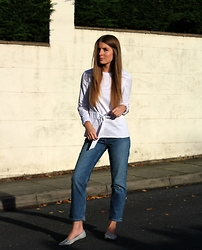 Angharad Jones - Finery London Top, Weekday Jeans, Topshop Shoes - Wrap Shirt