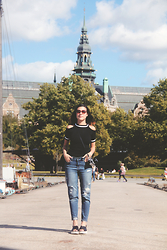 Danika Maia P. - Style Moi Cold Shoulder Tee - Stockholm Is A Paradise