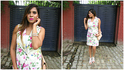 Pooja Mittal - Rose Girl Co Ords - Floral Dream-Skirt Jacket Combo