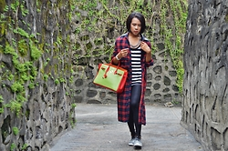 Kylie Rodriguez - Thrifted Oversized Plaid Jacket, People Are Striped Tank Top, Fashion Anthology Chain Necklace, Forever 21 Black Leggings, Aldo Snakeskin Sneakers, Hermès Tri Color Birkin - I've Mastered The Art Of Not Giving A Damn