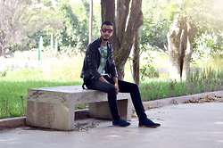 Abdel - Brown Leather Jacket, Wholesalebuying Shoes - Palm trees and leather