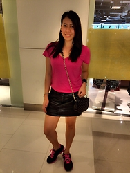 Marisil A - Forever 21 Top, Leather Skirt, Skechers Shoes - 219 abreeza