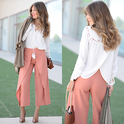 Helena Cueva - Buylevard Blouse, Fashion Pills Pants, The Desire Shop Kimono, Zara Handbag, Mango Heels - Hepu Pants