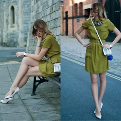 Monchanvre - H&M Dress, Michael Kors Bag, Zara Heels - Military Monday