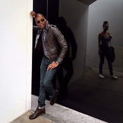 "David Thande - All Saints Brisk Boot, Levi's® Matchstick Skinny, Topman Flight Jacket, Jcrew Flannel Work Shirt, Timex Weekender, Lucky Brand Leather Belt - ""liquid-crystal-display"""