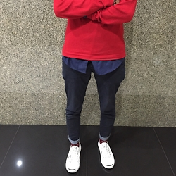 Nash Castro - Converse Jack Purcell - Color of the day : Red