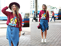 ♡Anita Kurkach♡ - Wholesale7 Dress, Wholesale7 Sweatshirt, Missguided Hat, Sheinside Shoes - GOOFY!
