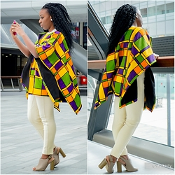 Priscillia Okpan - Kim Dave Chunky Cape, Cream Riding Pants, Primark Peep Toe Sandals - A Date with the Cape!