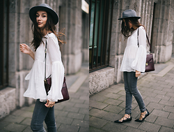Bea G - Top, Jeans, Shoes, Bag, Hat - Lace-up Dreams