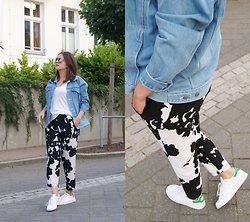 Kasia W - Zara Pants, Adidas Sneakers, Second Hand Denim Jacket - The Best Pants Ever