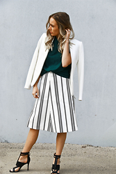 Lindsey Denham - H&M Blazer, Topman Tee Shirt, Cameo Skirt, Nine West Heels - Rather Be