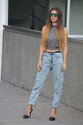 Tamy's Fashion World - Furia Sunglasses, H&M Shirt, Bershka Pants, Stradivarius Shoes, H&M Belt - Sunglasses
