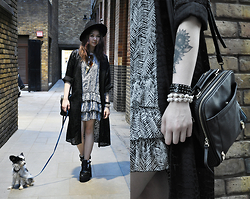 Sharley L. - Zara Dress, Topshop Kimono - Feels like NYC