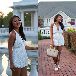 Christina Lau - Missguided Romper, Forever 21 Bag - Farewell, Summer