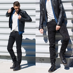 Aaron Wester - American Eagle Outfitters Black Denim - Greaser