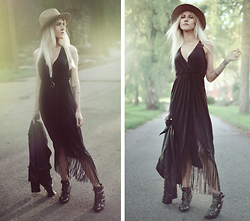 Kadri S - Wholesalebuying Dress, Lindex Fedora, H&M Necklace - Ten septembers