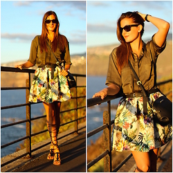 Marianela Yanes - Walktrendy Blouse, Choies Skirt, Mango Sandals, Mango Bag - Tropical Sunset