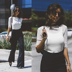 Stephanie Liu - H&M Top, H&M Pants, The Row Sunglasses - STUDIO COLLECTION