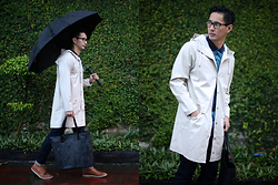 The Filo Dapper - Rains Raincoat, Cotton On Polo Shirt, Herschel Tote Bag, American Eagle Outfiiters Denim - Stylish Rains
