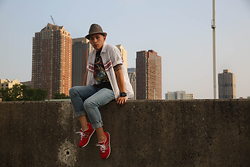 Kenneth Quinn - New Balance Sneakers, Gap Jeans, Mossimo Supply Co. Shirt, Brooks Brothers Hat - Jersey City