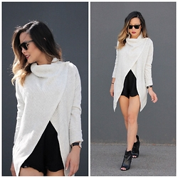 Marilyn N. - Angl Sweater, Forever 21 Romper, Guess Bootie - Asymmetrical.