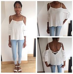 Zodie M - Off Shoulder Top, Primark Jeans - Summer come back!