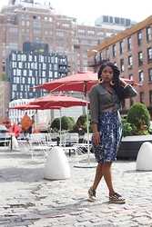 Monroe Steele - Topshop Top, Suno Skirt, Loeffler Randall Espadrilles - The City Never Sleeps