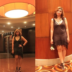 Aizha Guevarra - Fringe Dress, Fringe Shoes, Layered Pearls, Forever 21 Headband - The 1920s