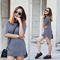 Fae Maaliw - Pull & Bear Tshirt Dress - T-Shirt Dress Trend