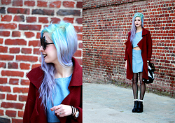Léopoldine Cannibale - Love Too True Jeans Co Ord, Sheinside Outerwear, H&M Boots, Story Of Lola Fluffy Bag, Freyrs Sunglases - I am sure I am a mermaicat