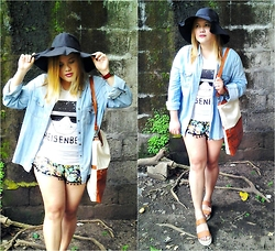 BeLL LurzZzzz - Cndirect Wide Brim Hat, Cndirect Red Watch, Thrifted Denim Jacket, Wholesalebuying Bag, Cndirect Heisenberg Shirt, Newdress Summer Shorts, Primadonna Sandals - Heisenberg