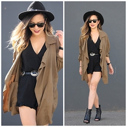 Marilyn N. - H&M Parka, Forever 21 Romper, Guess Bootie - Oversized