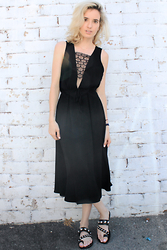 Liz Benichou - Sandro Boho Lace Dress, Sandro Studded Sandals - Summer LBD