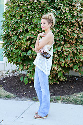 Kim Tuttle - Kenneth Cole Wedge, Paper Denim And Cloth Flares, Vintage Havana Crochet Racer Back, Tory Burch Resin Clutch, The Bra Lab Saint Tropez Crochet, The Bra Lab Angelina Contour - Saint-Tropez Crochet