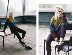 Lena Ushakova - Wood Sweater, Uniqlo Pants, Hobbs Shoes, Shield Ring - Hey, it's Autumn in the city