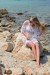 Martyna H - Bosnia And Herzegovina Souvenir Dress, Calzedonia White Bikini - White Lace Dress