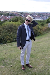 Gio' Mori - Persol Sunglasses, Chanel Tie, Valentino Shirt, Marni Blazer, Chanel Pouch, Calvin Klein Belt, Acne Studios Trousers, Prada Shoes - Whitby, Yorkshire, UK