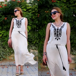 Melislicious Blog - Sheinside Dress, Sheinside Dress - Ethnic Maxi Dress