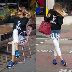 Monchanvre - Karl Lagerfeld Sweatshirt, Michael Kors Bag, Aldo Sneakers - We love Karl