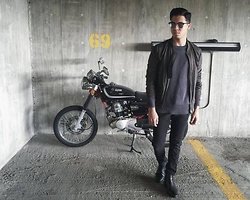 Matthew Woppel - Ray Ban Sunglasses, Allsaints Jacket, Cole Haan Boots - 69.