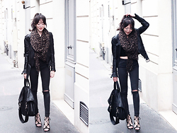 Lydia Marceau - Louis Vuitton Scarf, Topshop Jeans, Givenchy Bag, Zara Shoes - Black Mood