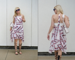 Liat Neuman - Club Monaco Dress, Zara Lace Up Sandals, French Connection Uk Bag - Summer, please stay