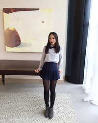 Jade T - Forever 21 Blouse, American Apparel Skirt, Circus By Sam Edelman Booties - Girl Dapper
