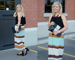 Liat Neuman - Zara Skirt, Club Monaco Crop Top, Zara Lace Up Heels - Autumn colours