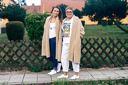 Veronika T - H&M Coat, H&M Coat, H&M Jeans - With Grandma