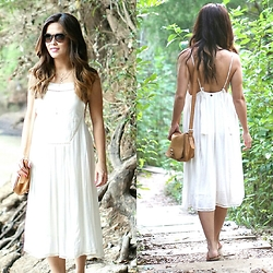 Quynh Tran - Billabong Sea Goddess Dress, Ted Baker Markun Stitch Bag, Ray Ban Erika Sunglasses - Sunny Disposition